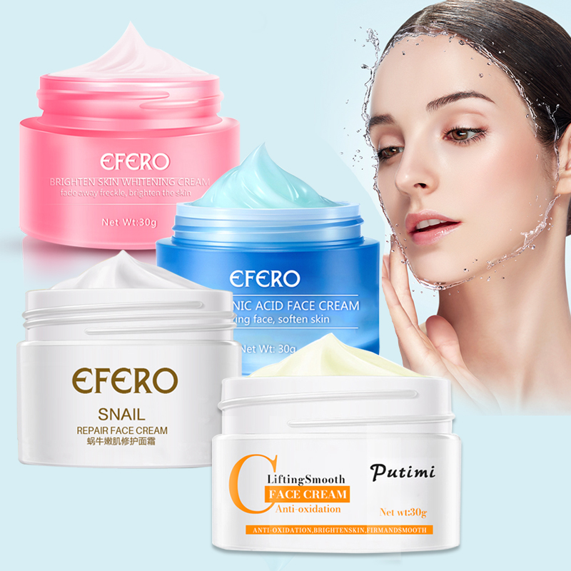 Whitening Face Cream Freckle Remover Anti-Oxidation Anti-Aging Cream for Face Fine Line Wrinkle Remover Hyaluronic Acid Cream