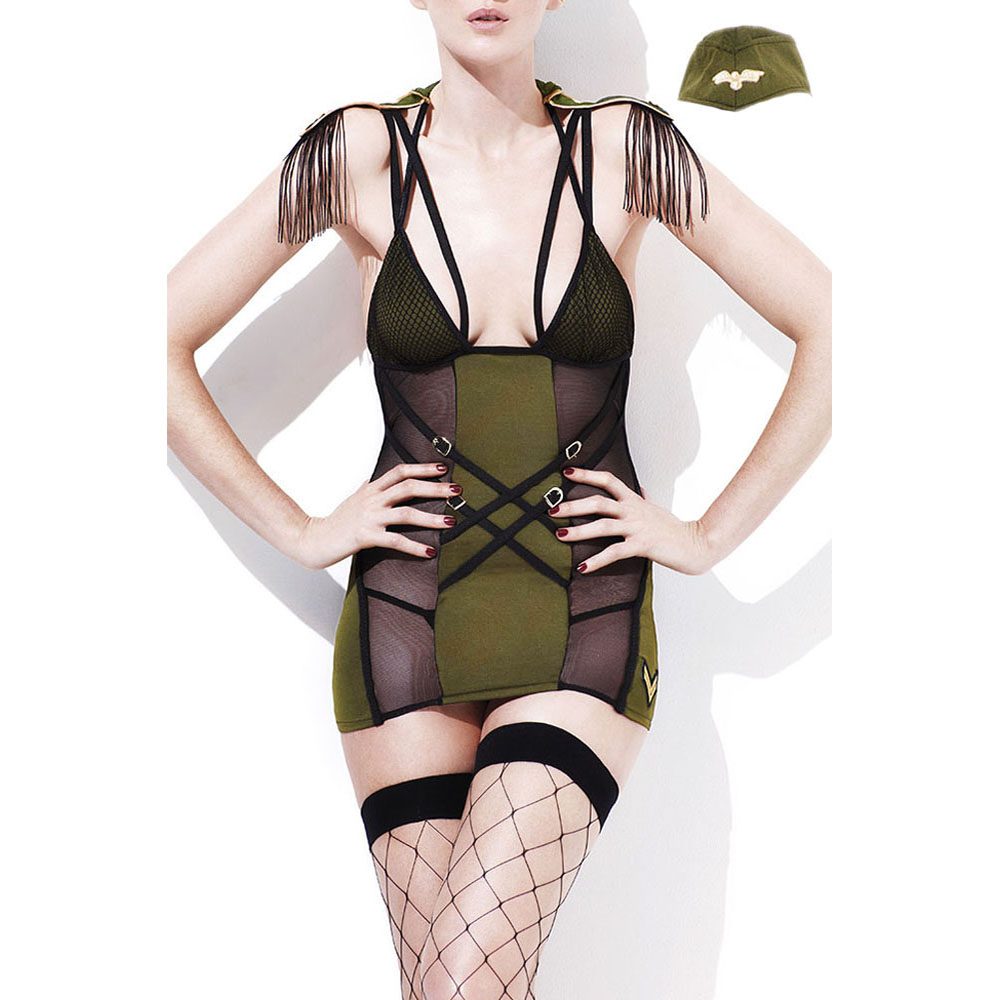 3pcs Soldiers bodysuit military officer teddy costume women <font><b>sexy</b></font> <font><b>Cosplay</b></font> Military Uniform <font><b>Army</b></font> Major Costume image