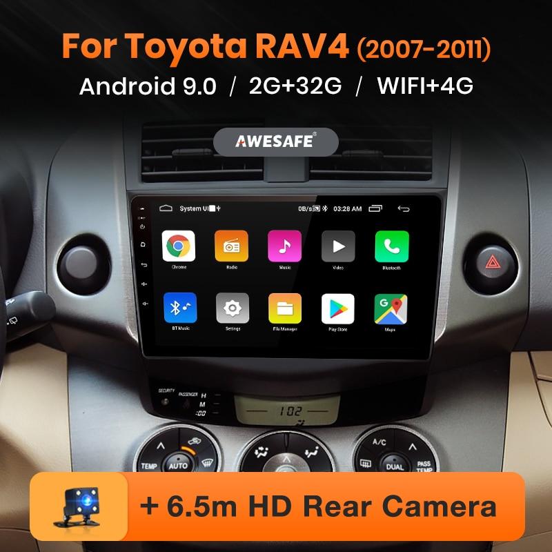 AWESAFE PX9 für Toyota RAV4 RAV 4 2005-2013 Auto Radio Multimedia video player GPS Keine 2 din Android 9,0 2GB + 32GB