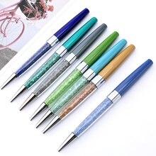 Signature-Pen Metal-Ballpoint-Pen Crystal Broken-Diamond-Pen School-Pen Student New-Fashion