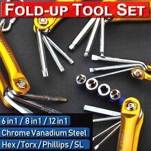 Tamperproof PH Chrome Platel CrV Steel Socket SL Folding Precision Tamperproof Star Multifunction Folding Screwdriver Slotted