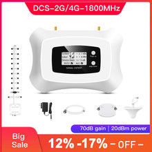 Hot sale one,2G 4G signal amplifier, LTE 4G cellular amplifier 1800MHz mobile signal booster LTE 4G signal repeater kit