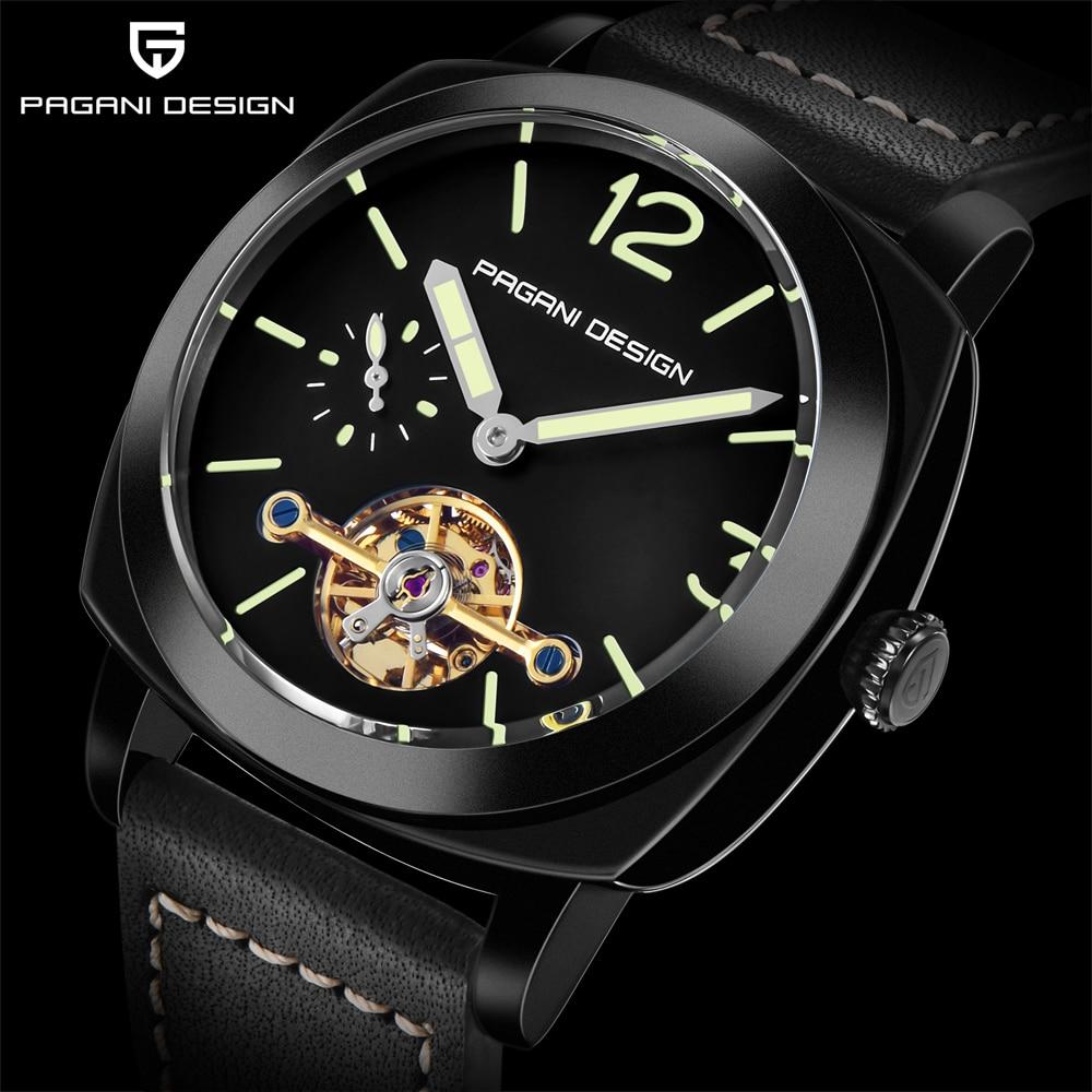 high quality PAGANI DESIGN Luxury Tourbillon Mechanical Watches Luminous Genuine Leather Fashion Casual Skeleton Automatic Watch free dropshipping 2020 (11)