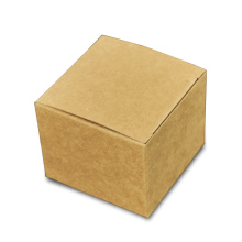 100 Pieces Brown Cardboard Paper Box Foldable Kraft Paper Boxes Facial Cleanser Jar Cream Package Paper Carton