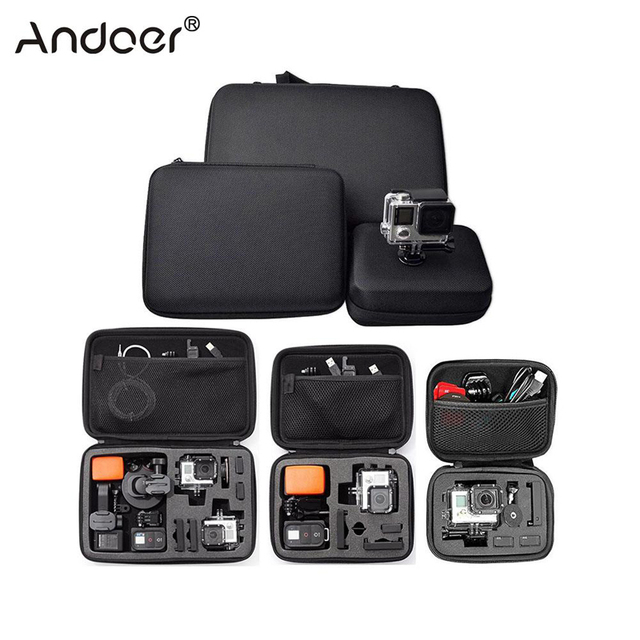 Andoer Portable Action Camera Case Protective Case for GoPro Hero Sport Camera Accessory Anti shock Storage Bag