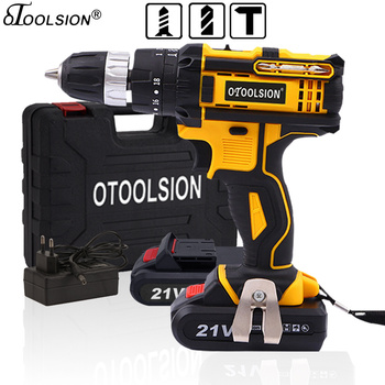 18+3 Torque 21V Impact Wireless Drill Hammer Drill Power Drill Power Tools Impact Screwdriver Impact with Lithium-ion Battery фото