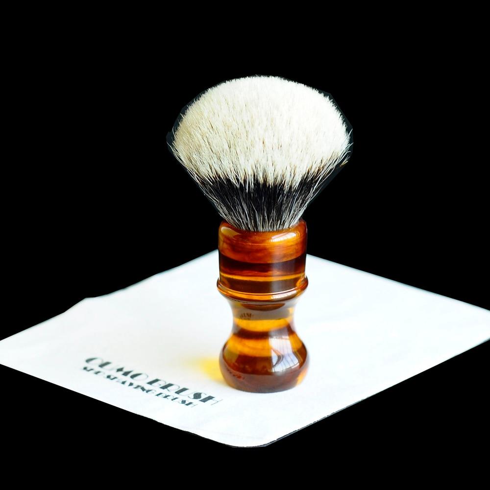 Image 3 - OUMO BRUSH amber resin handle shaving brushes with different shaving brush knots-in Shaving Brush from Beauty & Health