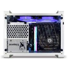 Metalfish g5 mais todo o alumínio a4 itx caso jogo computador pequeno chassi suporte 2080ti gaming itx caso htpc nas servidor equipamento de mineração