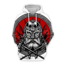 Tessffel Unisex Viking Tattoo Warriors Tracksuit NewFashion casual MenWomen 3DPrint Sweatshirts/Hoodie/shirts/Jacket s-20
