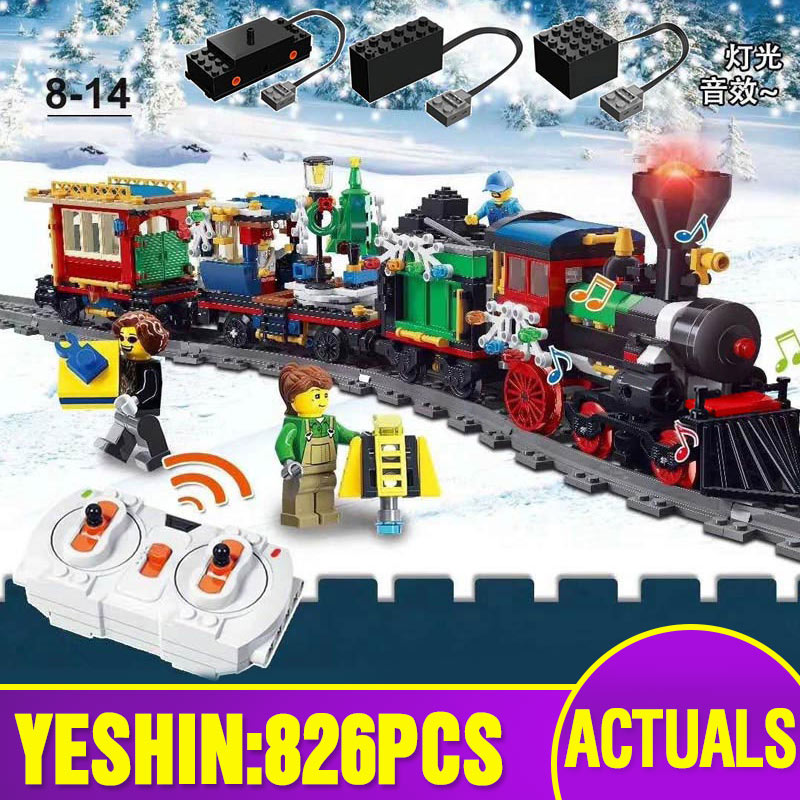 New 36001 Technic Car Toys Compatible With 10254 Motorized Winter Holiday Train With Track <font><b>Building</b></font> <font><b>Blocks</b></font> Bricks Kids Gifts image