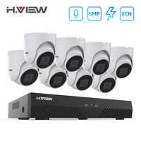 H. ANSICHT 5mp CCTV Kamera Sicherheit System Kit Kamera Video Überwachung CCTV Kameras Security System Kit PoE Video Überwachung IP