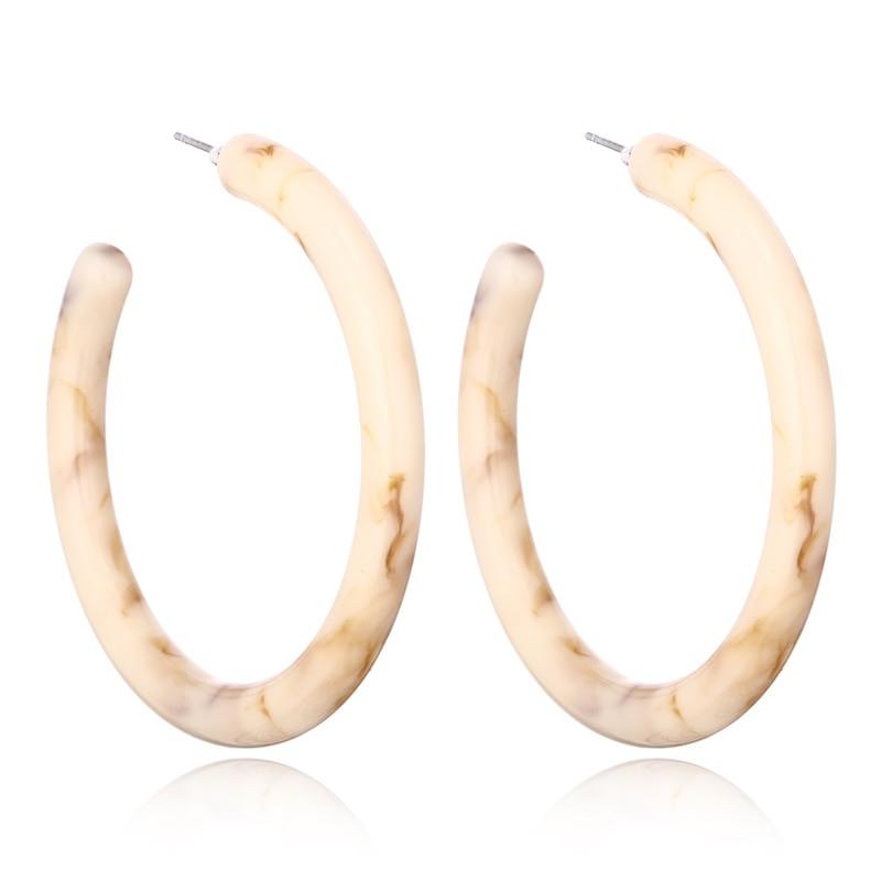 Big Boho Acrylic Hoop Earrings for Women 2020 Fashion Bohemia ZA Acetate Resin Circle Statement Hoops Korean Earrings Jewelry