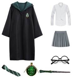 Potter accessories halloween costume cosplay slytherin harry potter robe kids costumes Cloak School Uniform