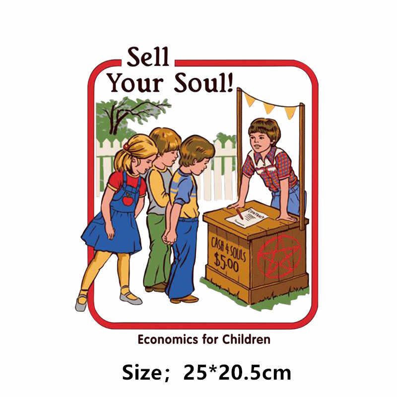 Vendere la vostra anima di Evocare i demoni di patch FAI DA TE per t-shirt Felpa Attività per i bambini adesivo In Vinile