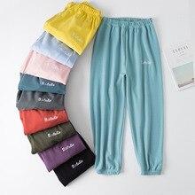 Autumun 2019 Women's Home Pants Cotton Trousers Ladies Pajamas Pants Lounge Wear