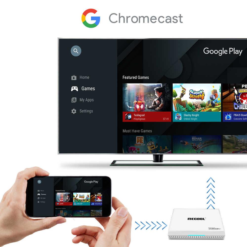 MECOOL KM9 PRO onur Android 9.0 TV kutusu Amlogic S905X2 4G 32G 4K Google sertifikalı Android 9 ATV akıllı TV kutusu ses kontrolü