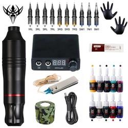 Complete Tattoo Machine Kit Tattoo Power Supply Rotary Pen With Cartridges Needle Tattoo Pen machine For Tattoo Beginners Artist