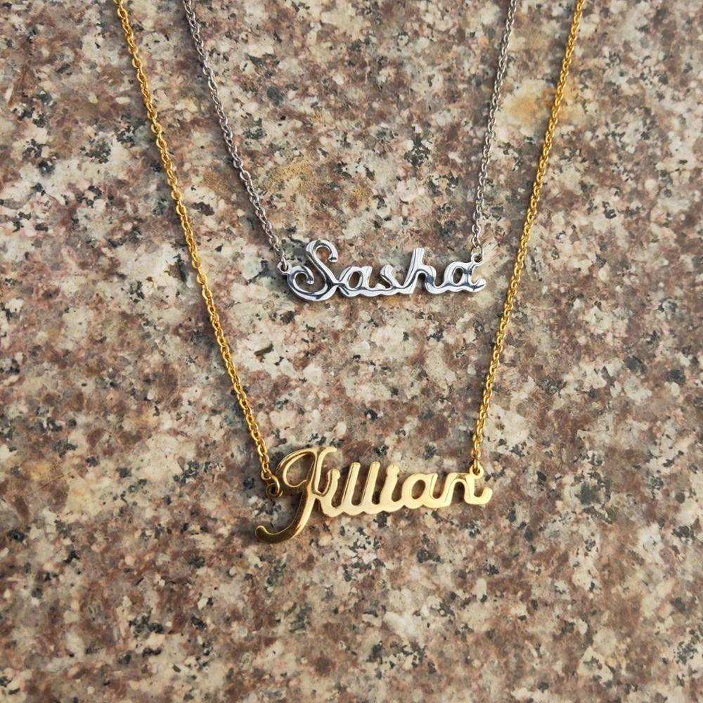 Fascinating Necklace Pendant Personalized Custom Any Name Necklace Alloy Pendant Gold Custom Name Necklace Personalized Necklace