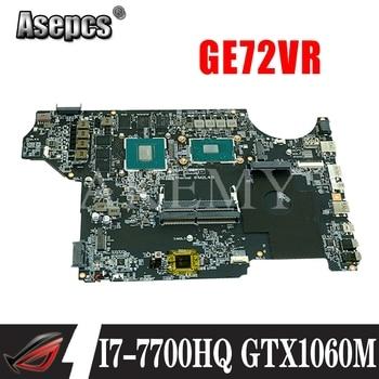 I7 7700HQ GPU GTX1060M MS-16JB1 motherboard msi GE62VR GE72VR notebook PC motherboard ver 100% Test OK