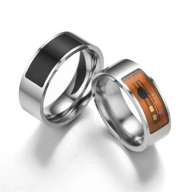 NFC Smart Cincin Jari Ajaib Teknologi Digital Perhiasan Smart Home Smart Wear untuk Android Ponsel High-End Hadiah perhiasan