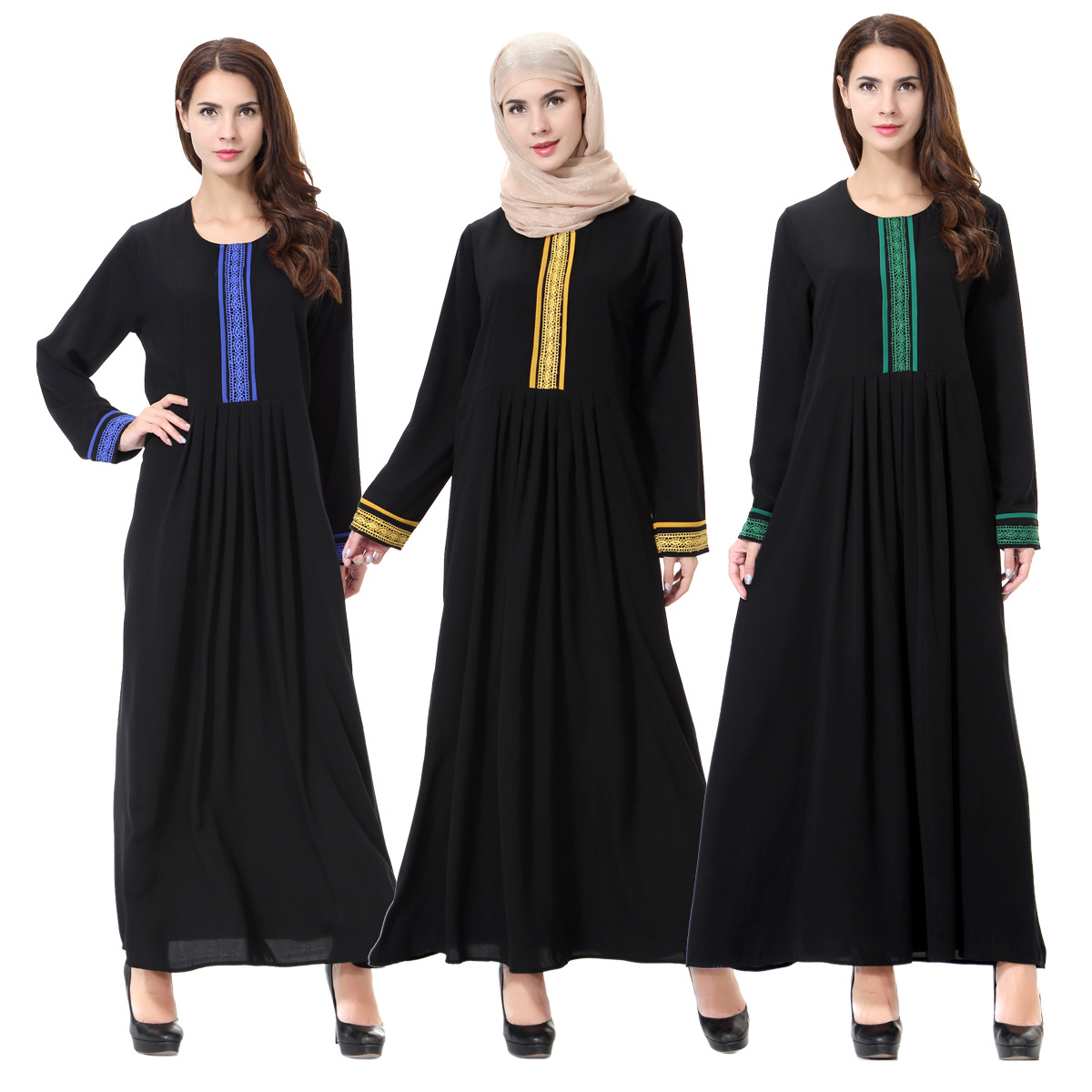Muslim Abaya Hijab Dress Women musulman prayer Robe Arab Islamic Clothing Islam moroccan Kaftan Tunic Middle East Maxi Vestidos