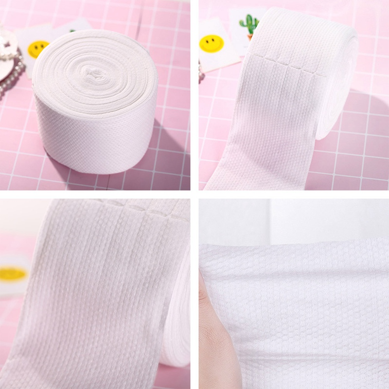 20m Disposable Face Towel Roll Soft Dry And Wet Cleansing Towel Beauty Towel Cleansing Makeup Remover Cosmetic Facial Cotton Pad