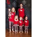 Familie Weihnachten Pyjamas Set Warm Erwachsene Kinder Mädchen Junge Mama Nachtwäsche Nachtwäsche Mutter Tochter Kleidung Passenden Familie Outfits