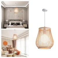 Rattan Lampe Anhänger Licht Vintage Hängen Lampe Shades E27 Wohnzimmer Esszimmer Hause Decor Cafe Restaurant