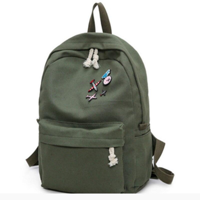 Women Backpack Fashion Backpacks For School Girls Rucksack School Backpack For Girl Female With Embroidered Canvas Bagpacks