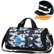 Travel bag women men's yoga training bag beach swimming dry wet separation bags independent shoe compartment luggage handbag