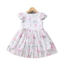 Г. Летнее платье для девочек; сетчатая детская одежда принцессы с цветочным рисунком