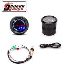 「 DRAGON 」 52 мм измеритель соотношения воздушного топлива, цифровой индикатор со стрелкой и более узким диапазоном кислородного датчика O2, вы...