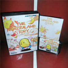 The Newzealand Story Japan Cover with Box and Manual For Sega Megadrive Genesis Video Game Console 16 bit MD card