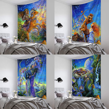 Ancient Greek twelve constellations mythology oil painting polyester printing background tapestry wall decoration cloth greek mythology warrior aka lok refrigerator