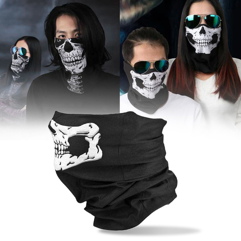 1Pcs Skull Balaclava Traditional Face Head Mask Gator Black NWT Tactical Head Cover Motorcycle Cycling Face Protective Covers