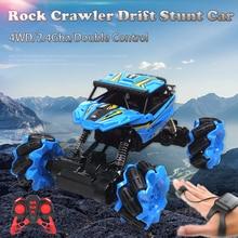 2.4Ghz 4WD Rock Crawler RC Car Watch Gravity Induction Car Toy Remote Gesture Control Drift Car Radio Control Stunt Toys 3755