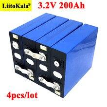 4pcs Liitokala 3.2V 200Ah LiFePO4 lithium battery 3.2v 3C Lithium iron phosphate battery for 12V 24V battery inverter vehicle RV