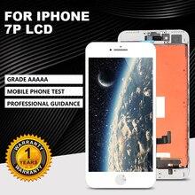 AAAA + + + seviye LCD ekran iPhone 7 artı touchscreen sayısallaştırıcı meclisi. Hiçbir ölü açı piksel + temperli cam + araçları