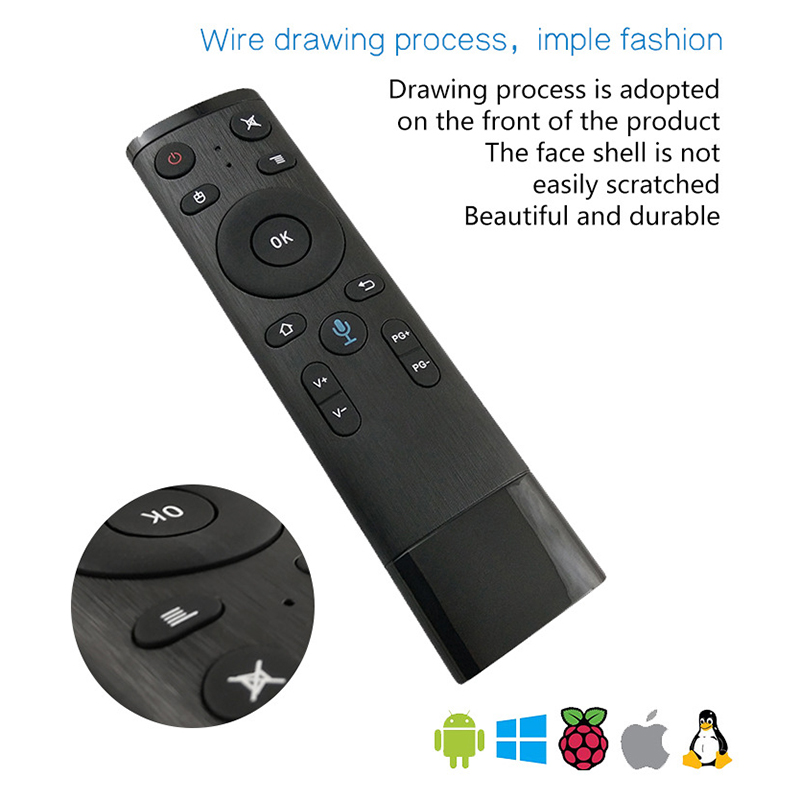 Bluetooth Voice TV Remote Control Fly Air-Mouse For Gyro-Sensing Game 2.4G Wireless Microphone For Smart Android Box PC