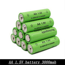 NEW AA 3000MAH 1.5v premium battery 1.5v battery rechargeable Ni-MH Rechargeable Battery 2A Baterias for Camera Flashlight(China)
