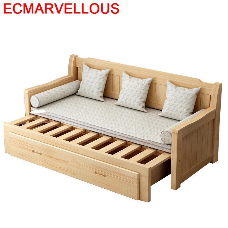 Folding Couche For Cama Plegable Puff Para Recliner Home Wood Retro Mobilya Set Living Room Furniture Mueble De Sala Sofa Bed