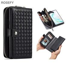 чехол для для мобильных телефонов oem iphone 6 4 7 6 g 6 5 5 5 5s 5 c 4 4s samsung s5 i9600 s4 i9500 3 2 case for iphone4g 5g 6 6 plus samsung galaxy s5 s4 note3 note2 Zipper Removable Wallet Bag Woven Leather Case Cover For iPhone 7 6 6S Plus 5S Samsung galaxy S8 Plus S7 Edge Note 4/5 S4 S5 S6