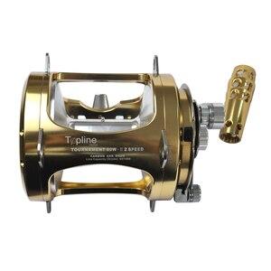 Image 5 - Topline Tackle Saltwater Fishing Reels 2 Speed 50W Trolling Drum Heavy Duty Fishing Reel Saltwater Right Hand Gold Sea Fish Reel