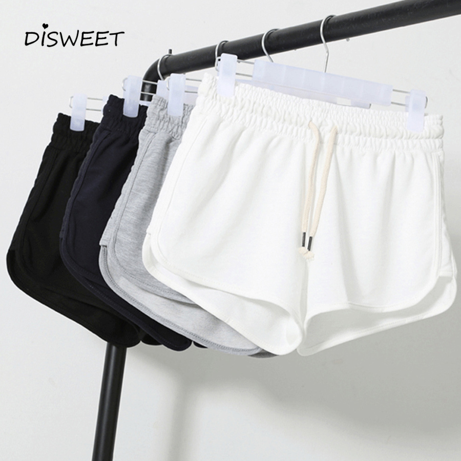 2019 Summer Casual Shorts Ladies Large Size High Waist Booty Shorts Female Black White Loose Beach Sexy Short Plus Size