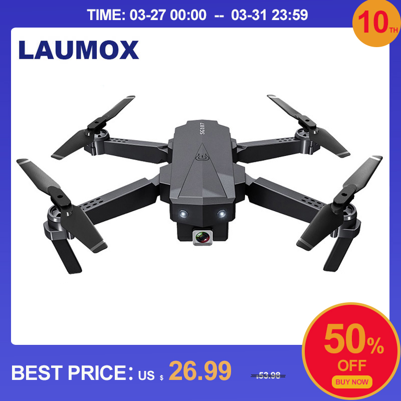 LAUMOX SG107 Mini RC Drone Quadcopter 1080P 4K Camera With 2.4Ghz WIFI FPV RC Foldable Drone Helicopter Optical Flow Toys VS E58