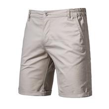 2020 New Summer 100% Cotton Solid Shorts Men High Quality Casual Business Social Elastic Waist Men Shorts 10 Colors Beach Shorts