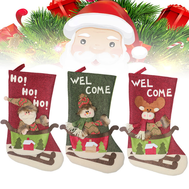New Year Christmas Stocking Sack Xmas Gift Candy Bag Christmas Decorations For Home Christmas Tree Decor Christmas Gift For Kid 1