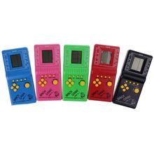 1 adet LCD elektronik oyun Vintage klasik Tetris tuğla el Arcade cep oyuncaklar