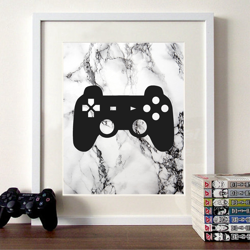 Video Game Party Canvas Painting Gaming Room Decor