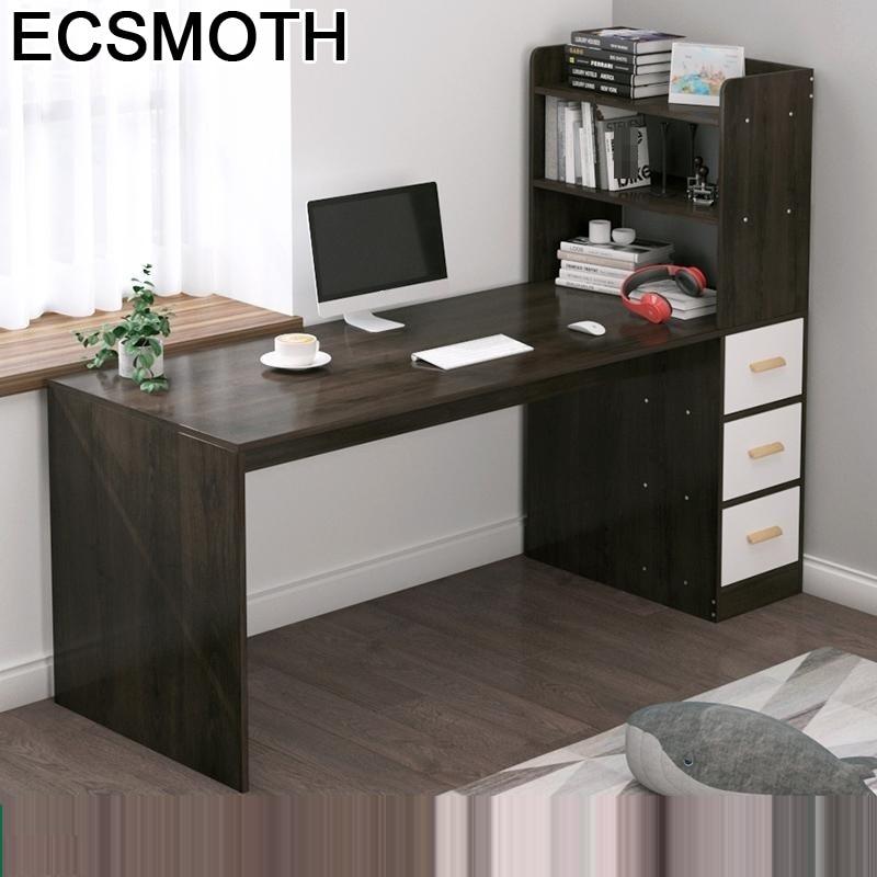 De Oficina Notebook Stand Tavolo Escrivaninha Biurko Scrivania Ufficio Desk Computer Mesa Laptop Bedside Table With Bookcase